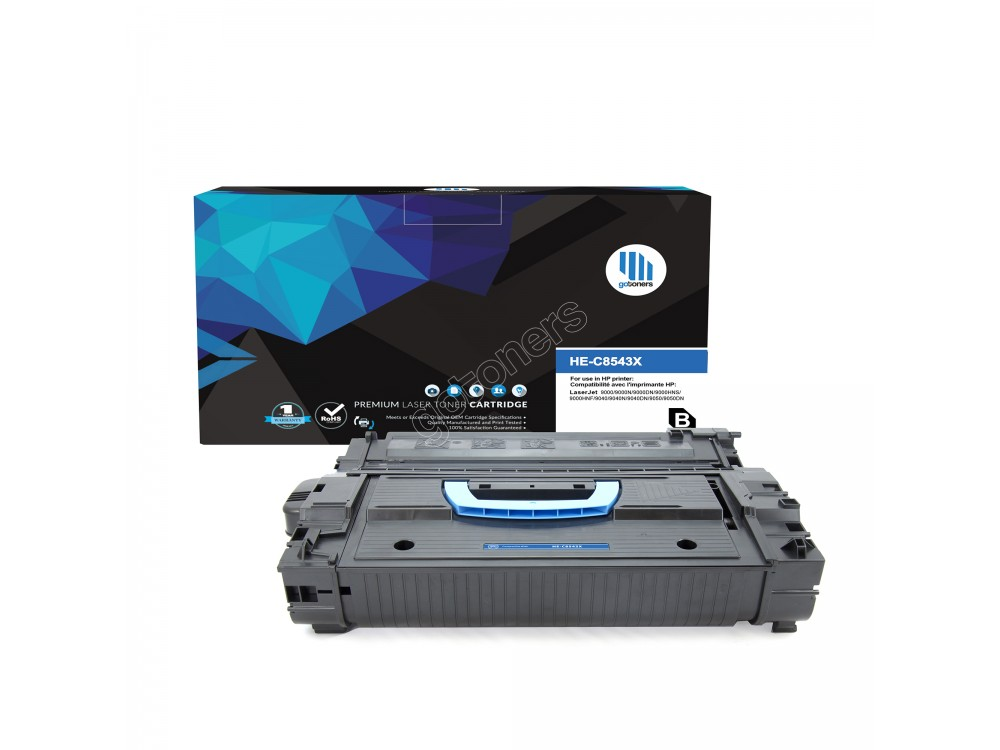 Gotoners™ HP Compatible C8543X (43X) Black Remanufactured Toner , Standard Yield