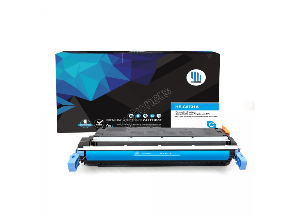 Gotoners™ HP Compatible C9731A (645A) Cyan Remanufactured Toner , Standard Yield