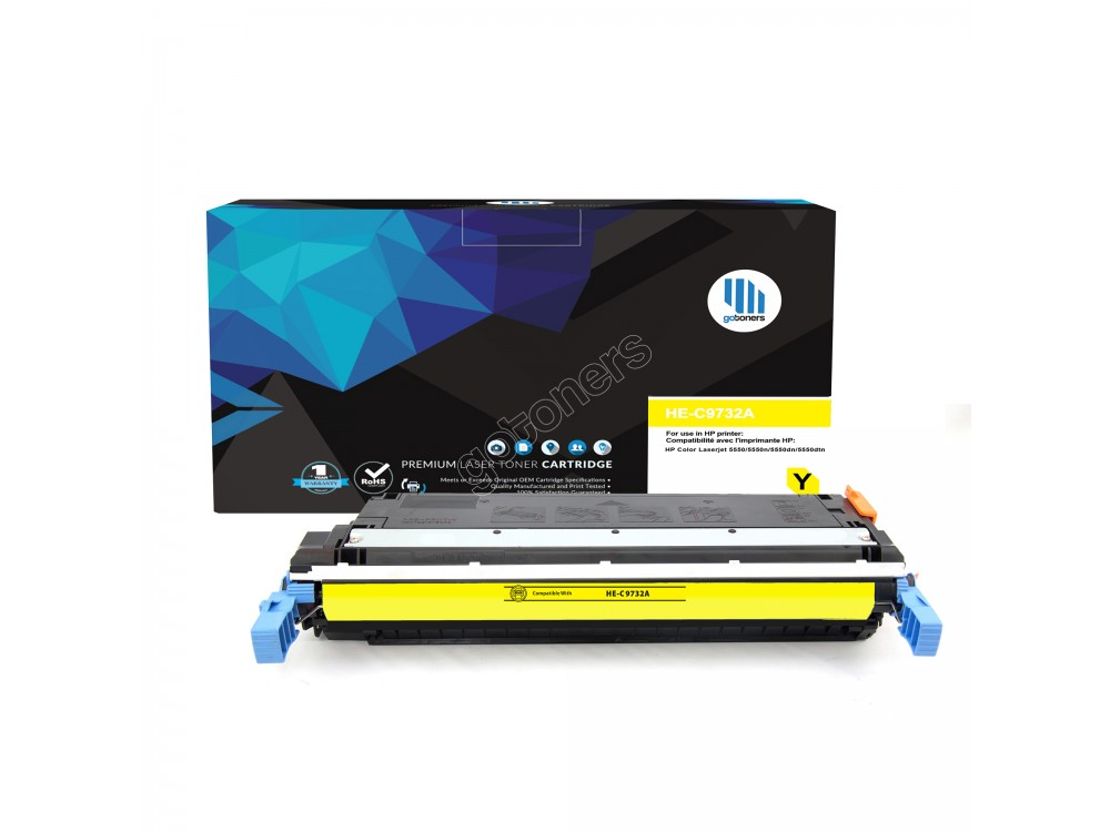 Gotoners™ HP Compatible C9732A (645A) Yellow Remanufactured Toner , Standard Yield