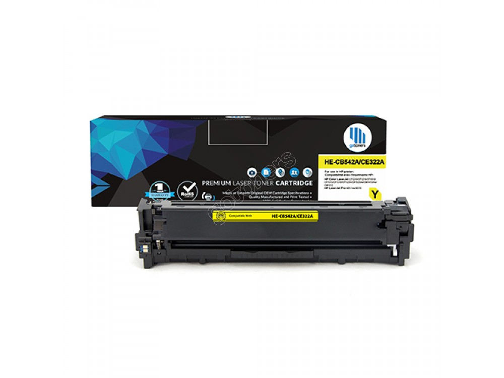 Gotoners™ HP New Compatible CB542A (125A) Yellow Toner, Standard Yield