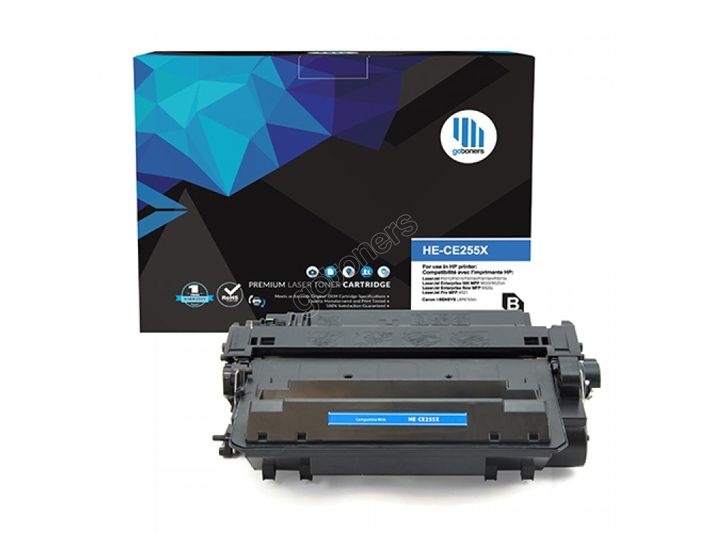 Gotoners™ HP New Compatible CE255X (55X) Black Toner, High Yield