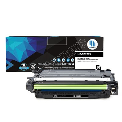 Gotoners™ HP Compatible CE260X (649X) Black Remanufactured Toner , High Yield