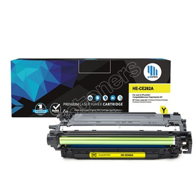 Gotoners™ HP Compatible CE262A (648A) Yellow Remanufactured Toner , Standard Yield