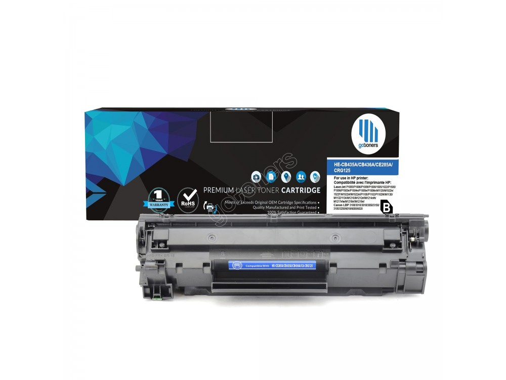 Gotoners™ HP New Compatible CE285A (85A) Black Toner, Standard Yield