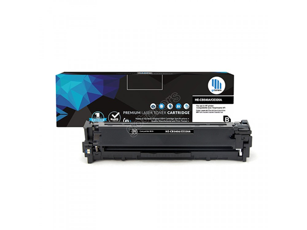 Gotoners™ HP New Compatible CE320A (128A) Black Toner, Standard Yield