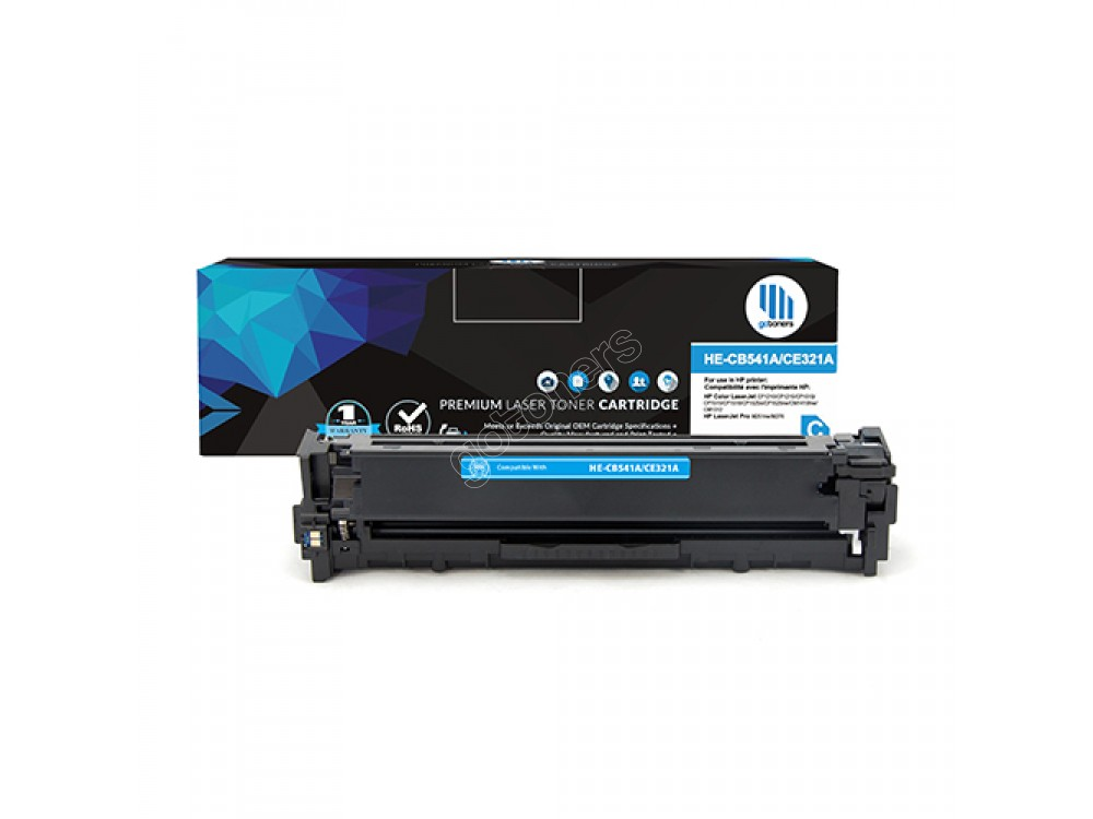 Gotoners™ HP New Compatible CE321A (128A) Cyan Toner, Standard Yield