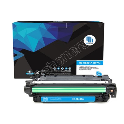 Gotoners™ HP Compatible CE401A (507A) Cyan Remanufactured Toner , Standard Yield