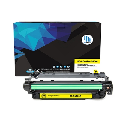 Gotoners™ HP Compatible CE402A (507A) Yellow Remanufactured Toner , Standard Yield