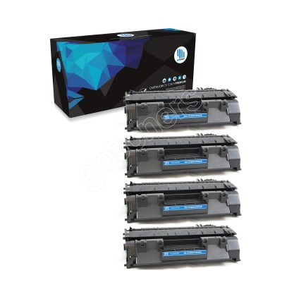 Gotoners™ HP New Compatible CE505A (05A) Black Toner, Standard Yield, 4 pack