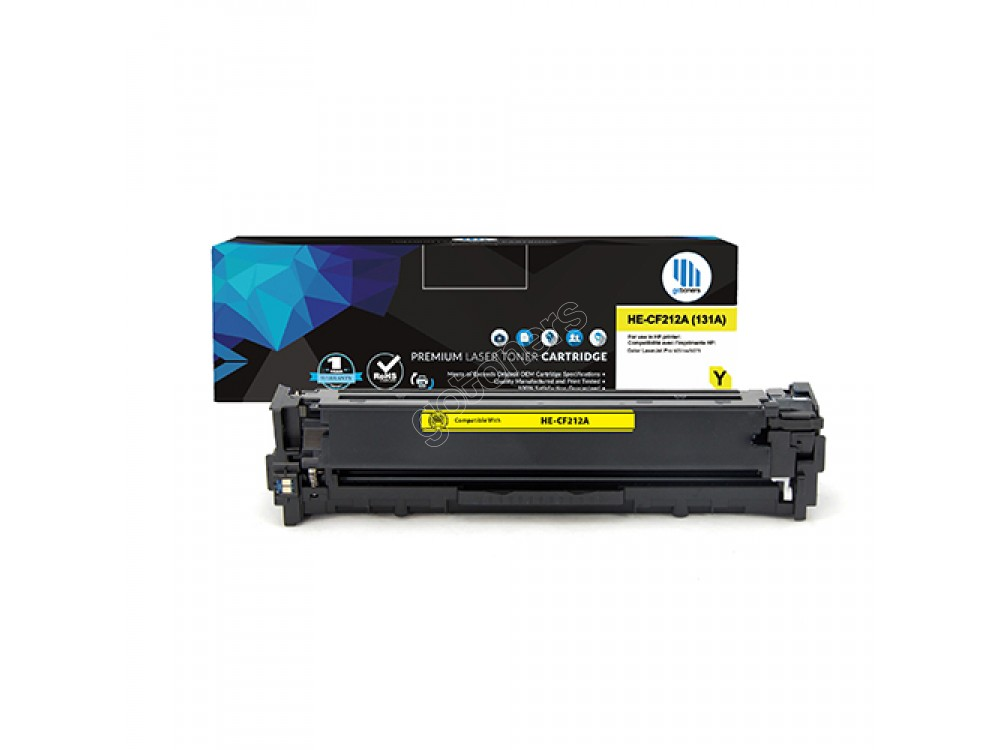 Gotoners™ HP New Compatible CF212A Yellow Toner, Standard Yield