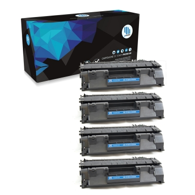 Gotoners™ HP New Compatible CF280A (80A) Black Toner, Standard Yield, 4 pack