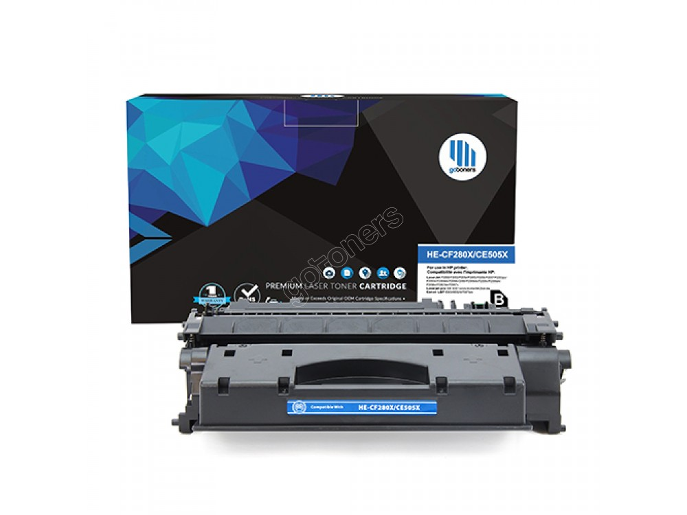 Gotoners™ HP New Compatible CF280X (80X) Black Toner, High Yield
