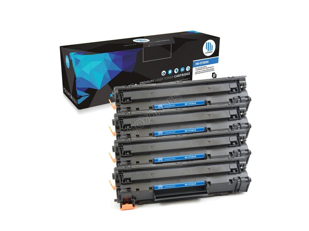 Gotoners™ HP New Compatible CF283A (83A) Black Toner, Standard Yield, 4 pack