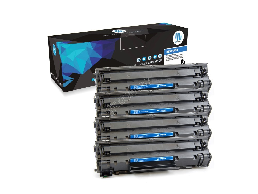 Gotoners™ HP New Compatible CF283X (83X) Black Toner, High Yield, 4 pack