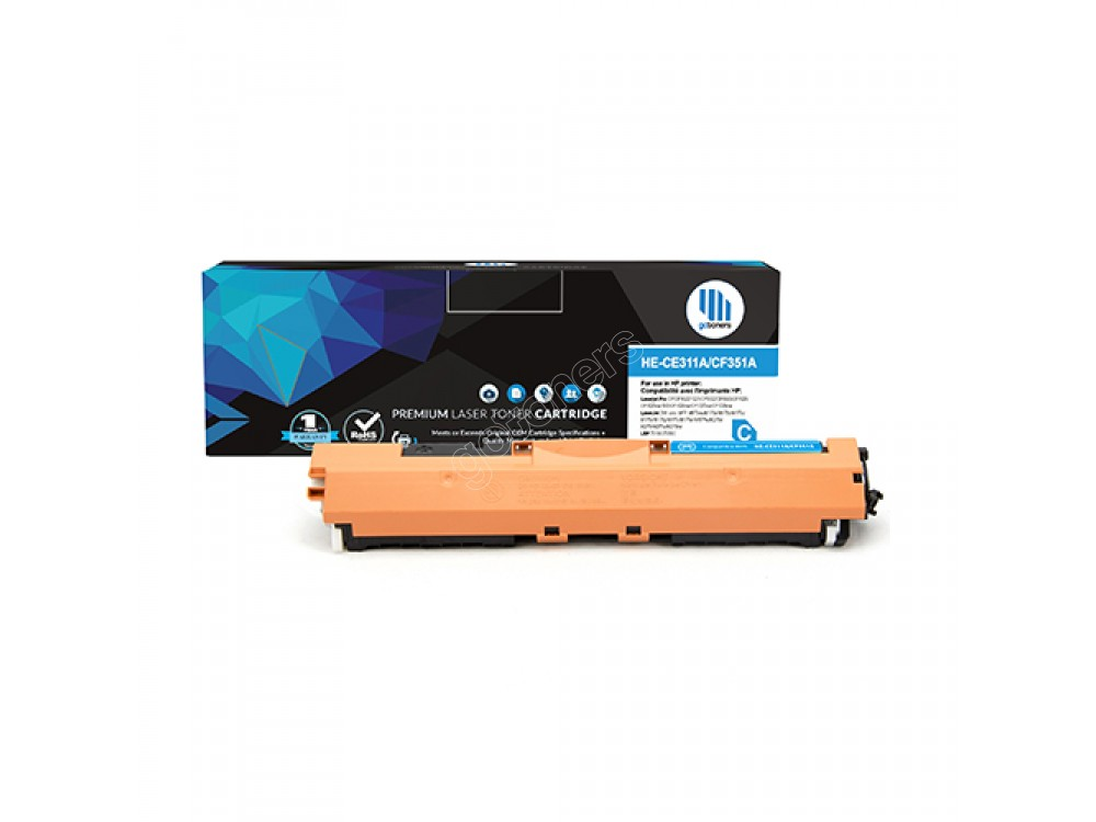 Gotoners™ HP New Compatible CF351A (130A) Cyan Toner, Standard Yield