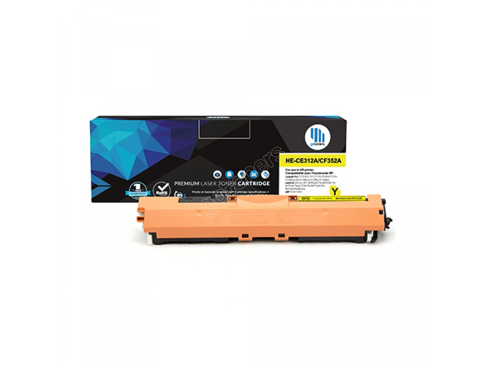 Gotoners™ HP New Compatible CF352A (130A) Yellow Toner, Standard Yield