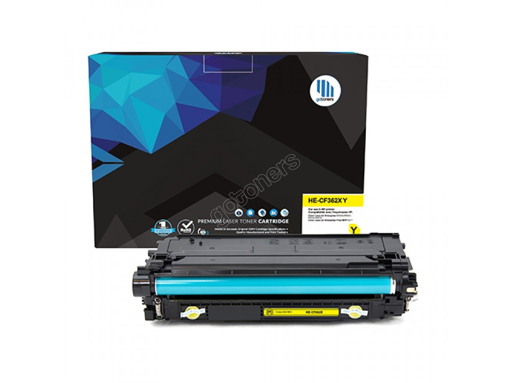 Gotoners™ HP New Compatible CF362X (508X) Yellow Toner, High Yield