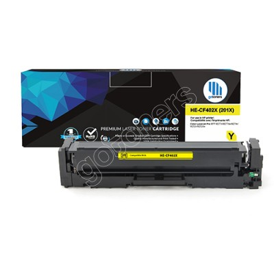 Gotoners™ HP New Compatible CF402X (201X) Yellow Toner, High Yield