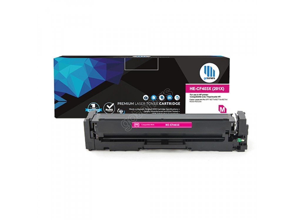 Gotoners™ HP New Compatible CF403X (201X) Magenta Toner, High Yield
