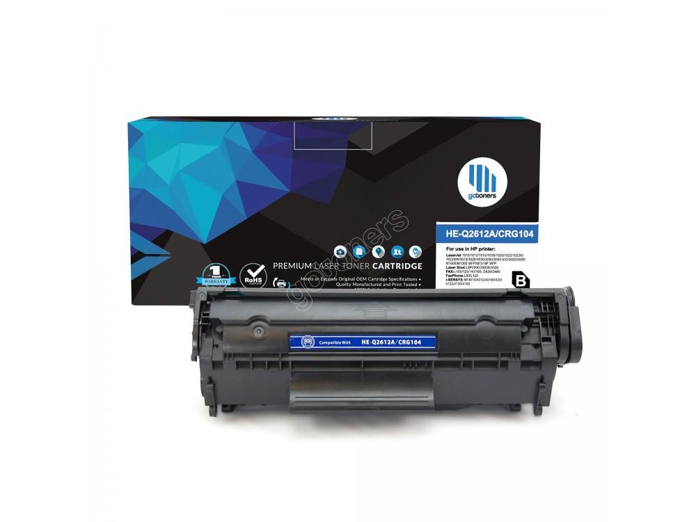 Gotoners™ HP New Compatible Q2612A (12A) Black Toner, Standard Yield