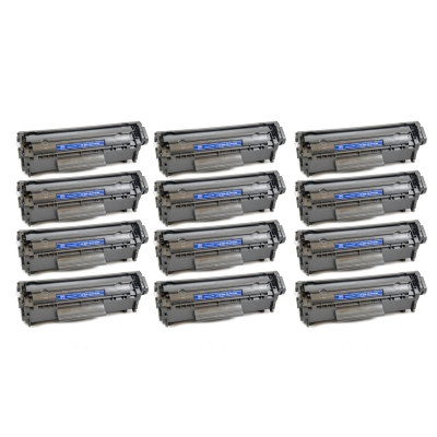 Gotoners™ HP New Compatible Q2612A (12A) Black Toner, Standard Yield, 12 pack