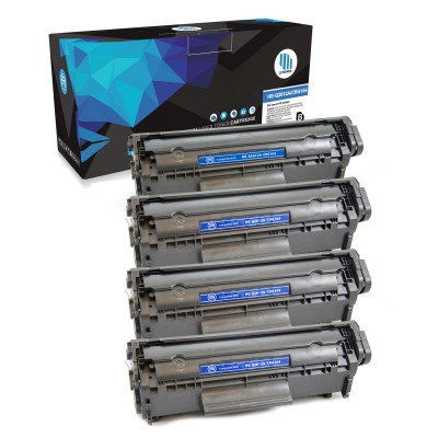 Gotoners™ HP New Compatible Q2612A (12A) Black Toner, Standard Yield, 4 pack