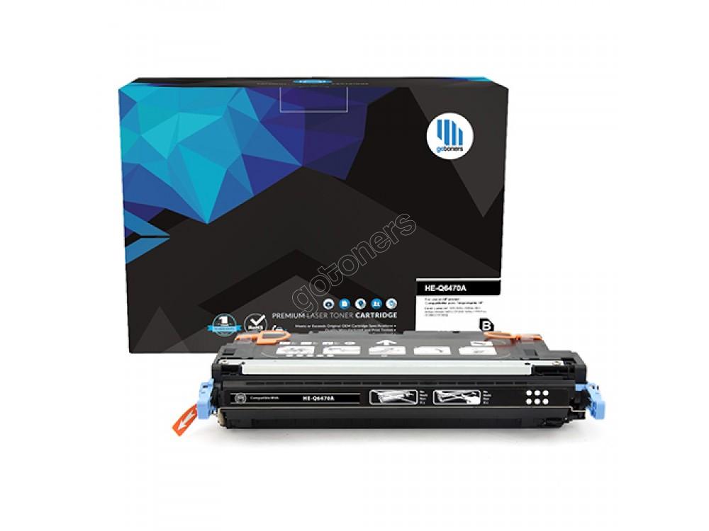 Gotoners™ HP Compatible Q6470A (501A) Black Remanufactured Toner , Standard Yield