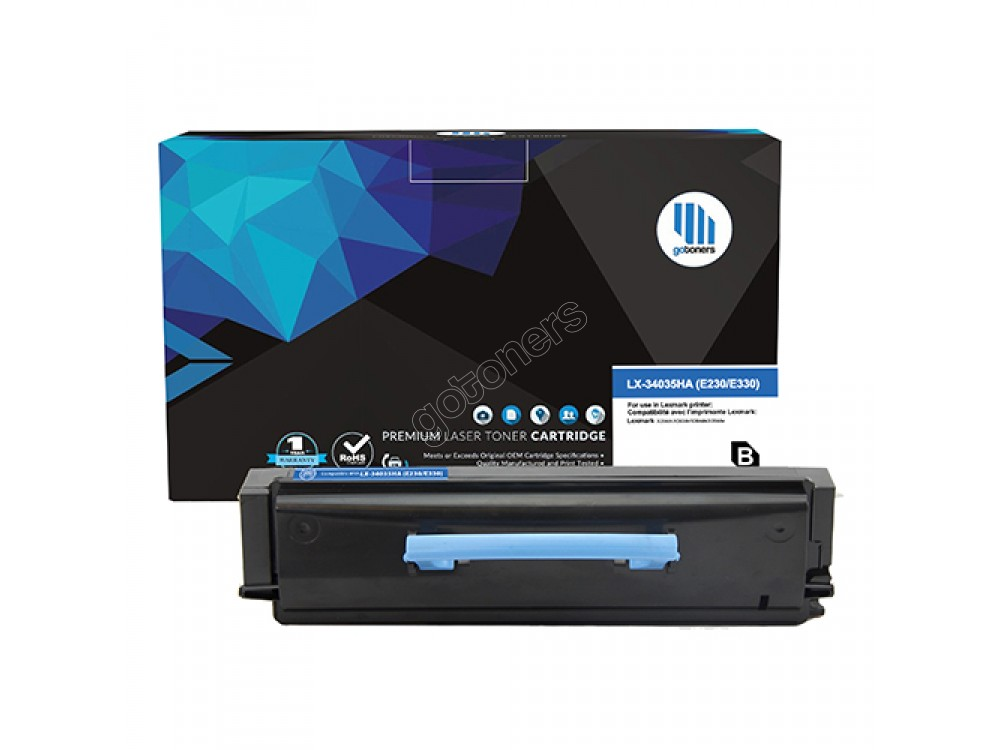 Gotoners™ Lexmark New Compatible 34035HA (E230/E330) Black Toner, Standard Yield