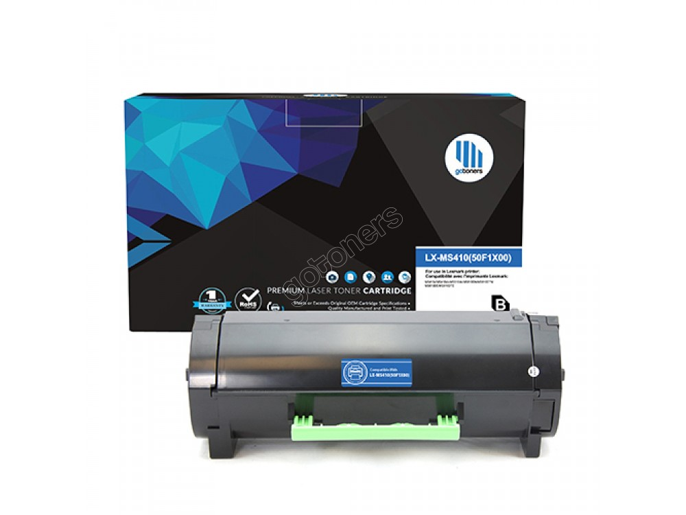 Gotoners™ Lexmark New Compatible 50F1X00 (MS410) Black Toner Cartridge, High Yield