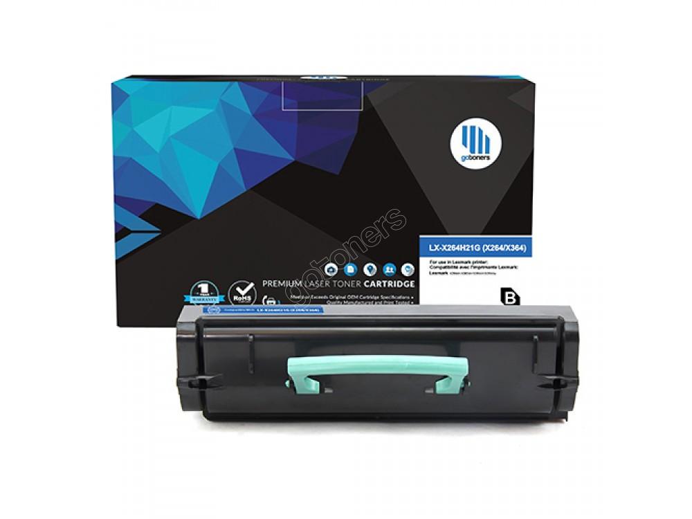 Gotoners™ Lexmark New Compatible X264H21G (X264) Black Toner, High Yield