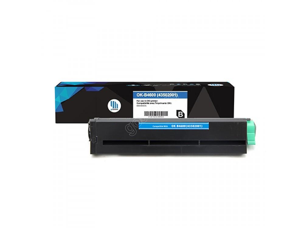 Gotoners™ OKI New Compatible 43502001 (B4600) Black Toner Kit, High Yield