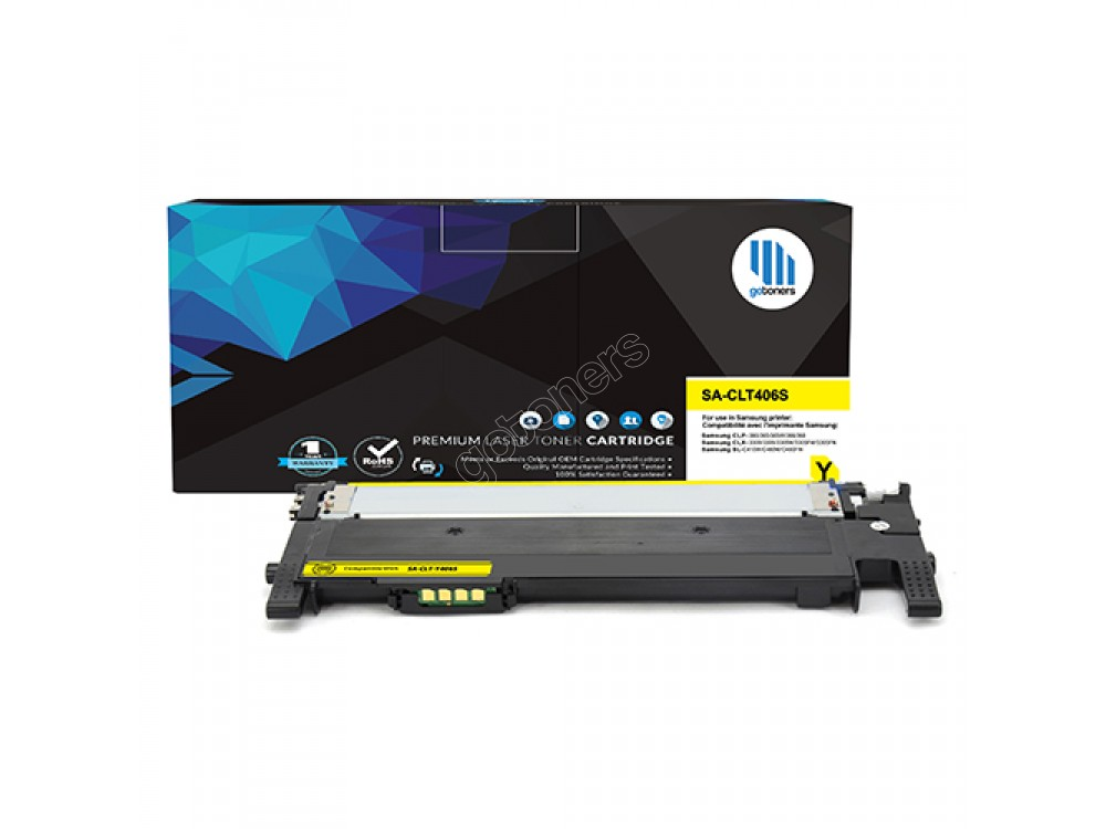 Gotoners™ Samsung New Compatible CLT-Y406S Yellow Toner, Standard Yield