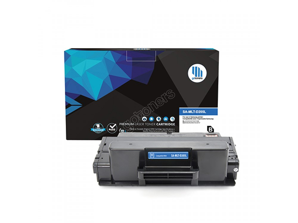 Gotoners™ Samsung New Compatible MLT-D205L Black Toner, Standard Yield