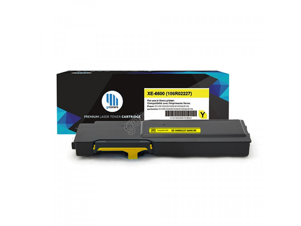 Gotoners™ Xerox New Compatible 106R02227 (6600) Yellow Toner Kit, High Yield