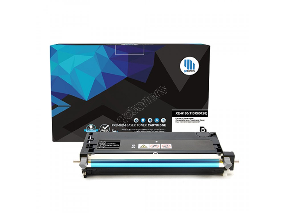 Gotoners™ Xerox Compatible 113R00726 (6180) Black Remanufactured Toner , High Yield